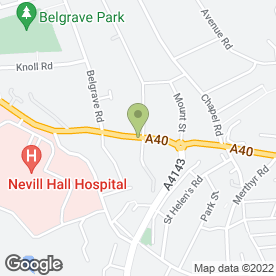 Map of Riverside Veterinary Care in Abergavenny, gwent