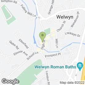 Map of The Natural Beauty Room in Welwyn, hertfordshire