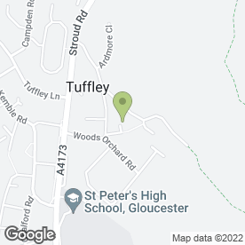 Map of Robinswood Hill Social Club in Tuffley, Gloucester, gloucestershire