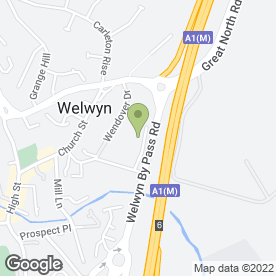 Map of D Tyler & Sons Fencing in Welwyn, hertfordshire