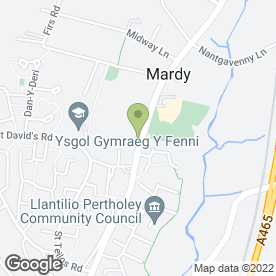 Map of Paul Rutter Removals in Mardy, Abergavenny, gwent