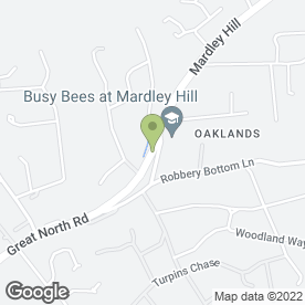 Map of Busy Bees Nurseries Limited in Welwyn, hertfordshire