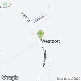 Map of Wescott Social Club Ltd in Westcott, Aylesbury, buckinghamshire