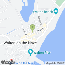 Map of Whites Pie & Mash Shop in Walton On The Naze, essex
