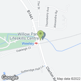Map of Willow Park Resource Centre Ltd in Weeley, Clacton-On-Sea, essex