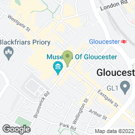 Map of The Gift Stall in Gloucester, gloucestershire