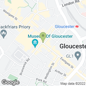 Map of Greggs in Gloucester, gloucestershire