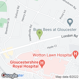 Map of London Road Medical Practice in Gloucester, gloucestershire