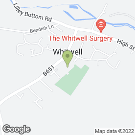 Map of MA Boxall Painting & Decorating in Whitwell, Hitchin, hertfordshire