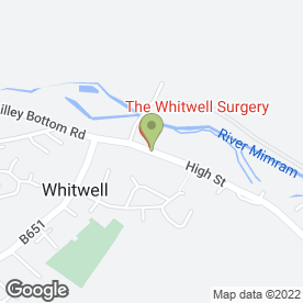 Map of Whitwell P.O & Stores in Whitwell, Hitchin, hertfordshire