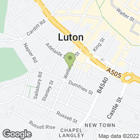 Map of Peter Hill Surveyors & Commercial Agents in Luton, bedfordshire