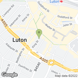 Map of Luton Dental Practice in Luton, bedfordshire