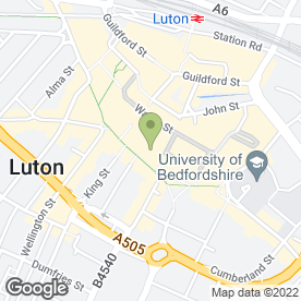 Map of Greggs in Luton, bedfordshire