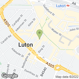 Map of FINE FOOD CATERING in Luton, bedfordshire