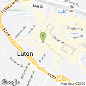 Map of Connells Residential in Luton, bedfordshire