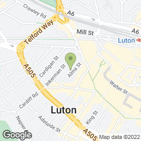 Map of Caulie Accountants in Luton, bedfordshire