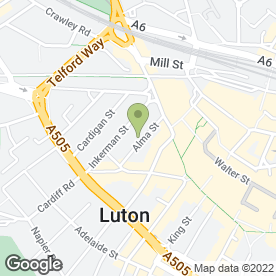 Map of Co-operative Bank plc in Luton, bedfordshire