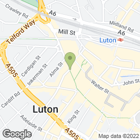 Map of Santander in Luton, bedfordshire