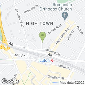 Map of Usher Solicitors in Luton, bedfordshire