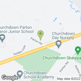 Map of Evergreen Nurseries in Churchdown, Gloucester, gloucestershire