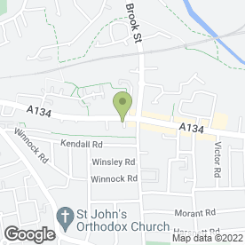Map of St. Helena Hospice Furniture Shop in Colchester, essex
