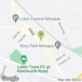 Map of Bury Park Post Office in Luton, bedfordshire