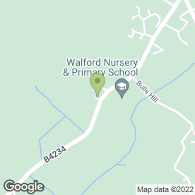 Map of Walford Primary School in Walford, Ross-On-Wye, herefordshire
