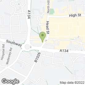 Map of Blush Studios in Colchester, essex