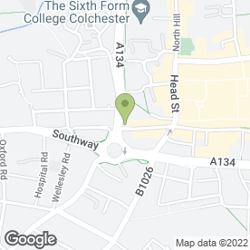 Map of Lloyds TSB Business Banking in Colchester, essex