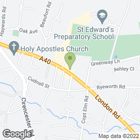 Map of Sixways Clinic in Charlton Kings, Cheltenham, gloucestershire
