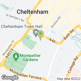 Map of Maitland Walker Solicitors in Cheltenham, gloucestershire