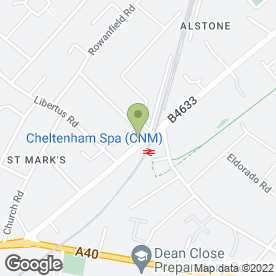 Map of St. Marks P.O in Cheltenham, gloucestershire