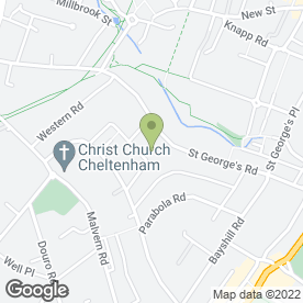 Map of Overton Park Surgery in Cheltenham, gloucestershire