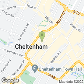 Map of Cafe Rouge in Cheltenham, gloucestershire