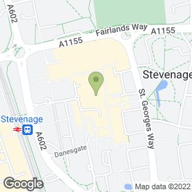 Map of Esquires Coffee Houses in Stevenage, hertfordshire