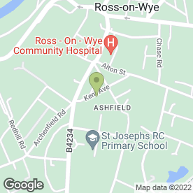 Map of Pendeen Surgery in Ross-On-Wye, herefordshire