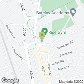 Map of Stevenage Podiatry Clinic in Stevenage, hertfordshire