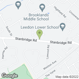 Map of Stanbridge Road P.O in Leighton Buzzard, bedfordshire