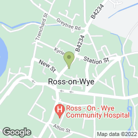 Map of Ross Information Service in Ross-On-Wye, herefordshire