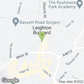 Map of Xquisite Bridal Wear Ltd in Leighton Buzzard, bedfordshire