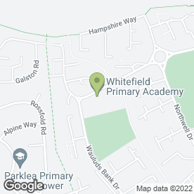 Map of Whitefield Primary School in Luton, bedfordshire
