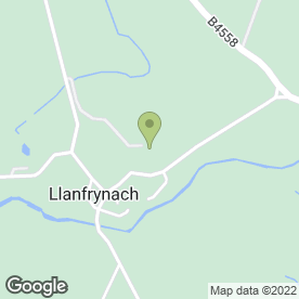 Map of White Swan Inn in Llanfrynach, Brecon, powys