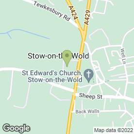 Map of The Stow Jewellers in Stow On The Wold, Cheltenham, gloucestershire