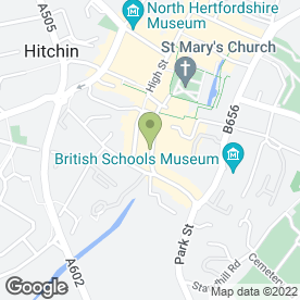 Map of Zizzi in Hitchin, hertfordshire