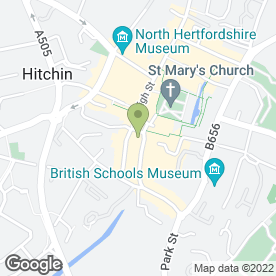 Map of Gatwards of Hitchin in Hitchin, hertfordshire