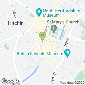 Map of PizzaExpress in Hitchin, hertfordshire