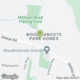 Map of Woodmancote Veterinary Surgery in Cheltenham, gloucestershire