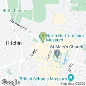 Map of Swinton Home Insurance - Hitchin in Hitchin, hertfordshire