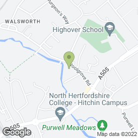 Map of The Adviser Partnership Ltd in Hitchin, hertfordshire