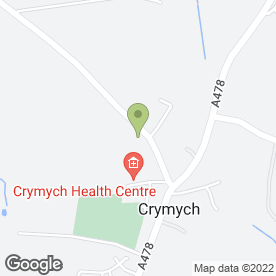 Map of Hermon Recycling Centre in Crymych, dyfed
